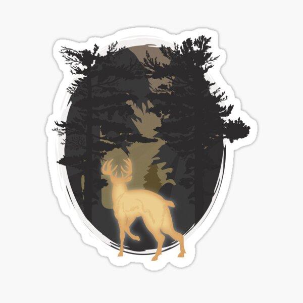 phone, bumper, window, xbox Beer Bear with Antlers Silhouette Vinyl Sticker