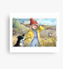 Little Bo Peep - A welsh take on the children's rhyme Canvas Print