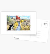Little Bo Peep - A welsh take on the children's rhyme Postcards