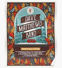 Concert Schedule Poster Dave Matthews Band 2018 Fall Tour Poster