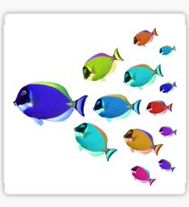 School of colorful fish  Sticker