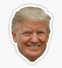 Donald Trump's Face (The Man The Myth, The Legend)  Sticker