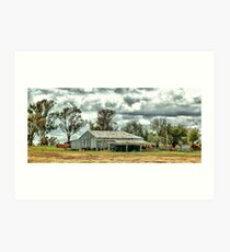 Country wool shed Art Print