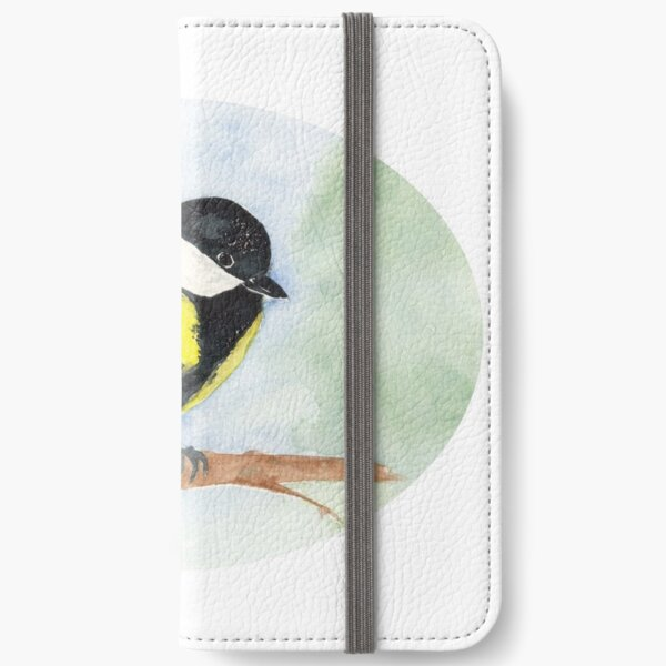 Kohlmeise, ellipse iPhone Flip-Case