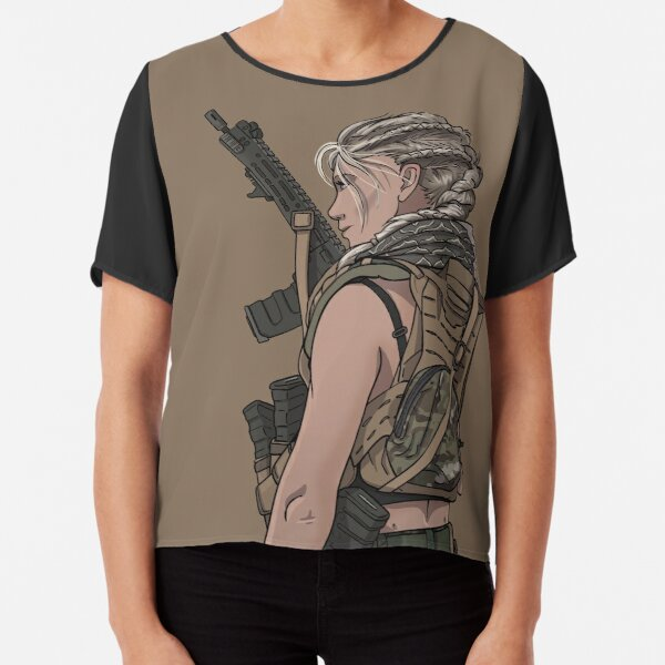 Special Ops Military Female Soldier Chiffon Top