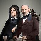 Amélie Gabrielle Boudet and Allan Kardec by Fernando Ribeiro  Colorization