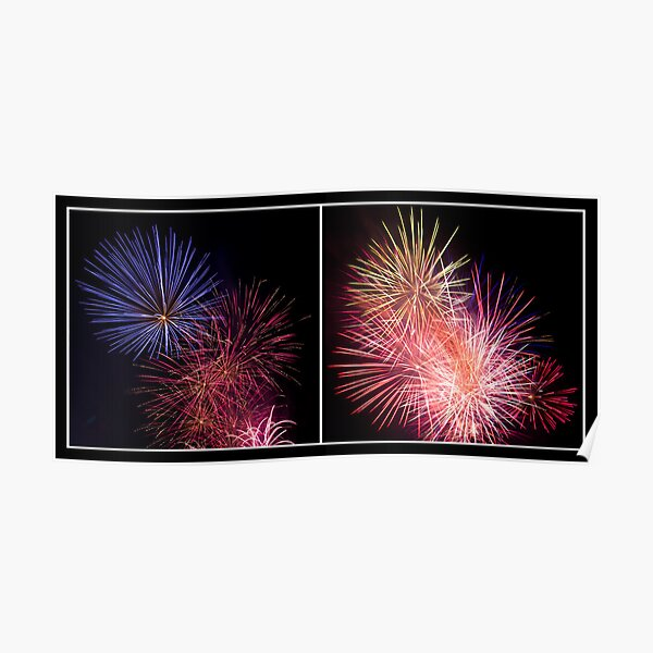 Penrith Panthers Fireworks - Diptych I Poster