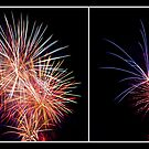 Penrith Panthers Fireworks - Diptych II by Adriana Glackin
