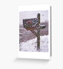 Snowplow Delivery Greeting Card