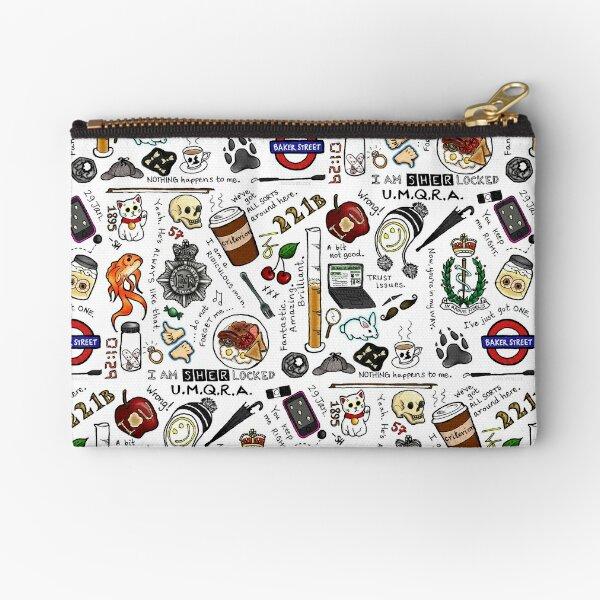 Sherlock Collage (color) Zipper Pouch