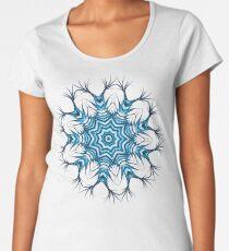 Snowflake Mandala In Blue Women's Premium T-Shirt