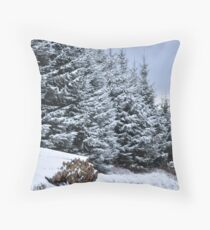 Woodstack Throw Pillow