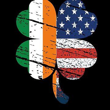 St Patrick's Day Shamrock Irish US Flag by edgyshop