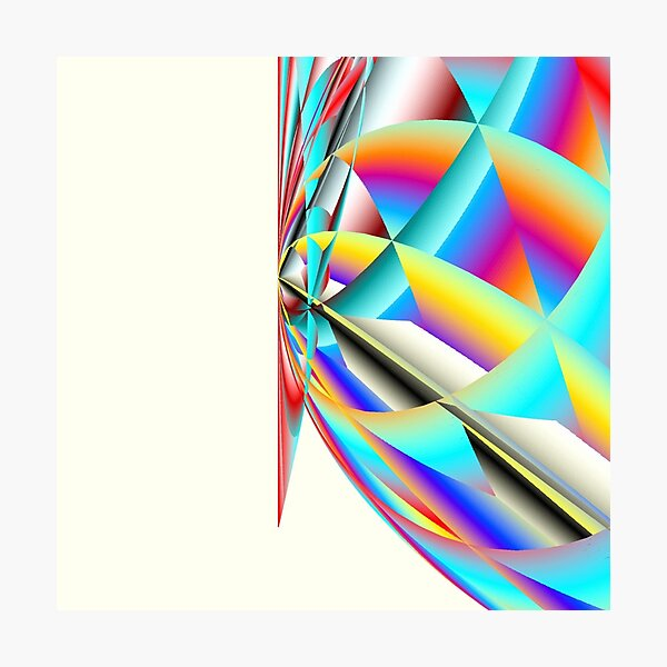 Quantum Scalar Energy Rainbow Photographic Print