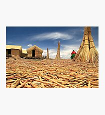 Floating Islands of Puno Photographic Print