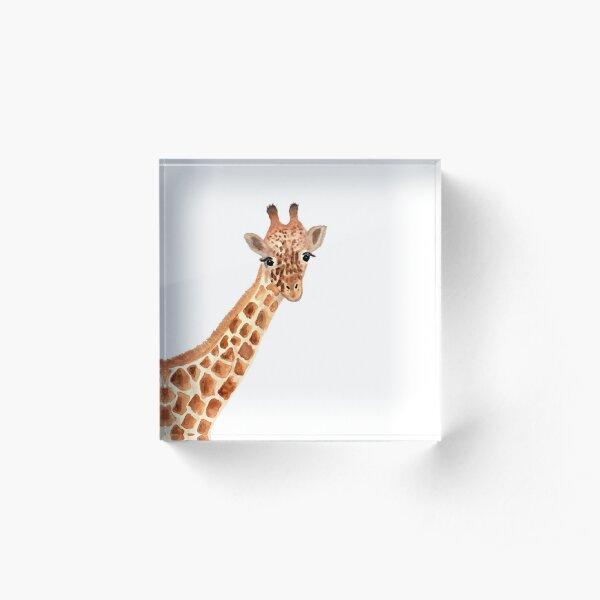 Watercolor Giraffe Acrylic Block