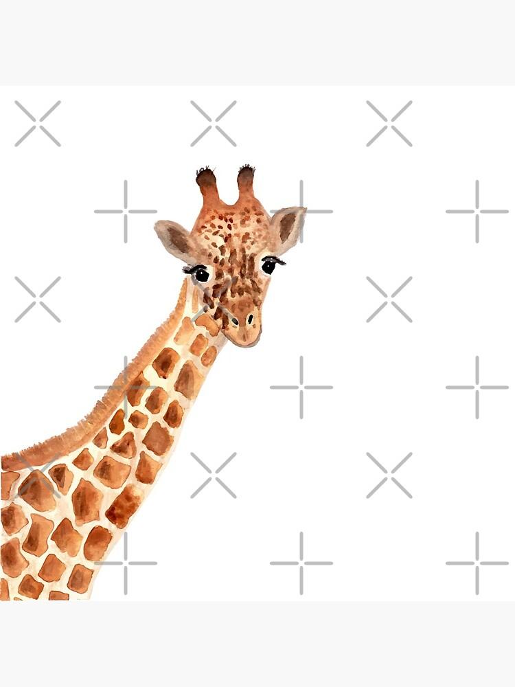 Watercolor Giraffe by Harpleydesign