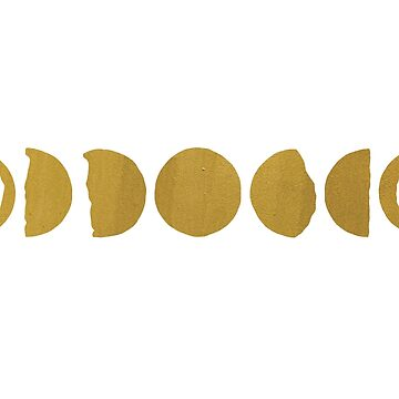 Minimalist Moon Phases in Gold by astralprints