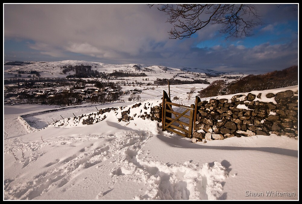 Wintery views over Settle by Shaun Whiteman