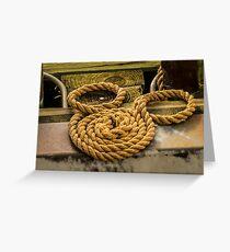 Hidden Mickey Rope Greeting Card