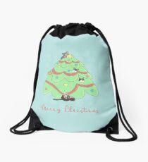 Holiday Kitties Drawstring Bag