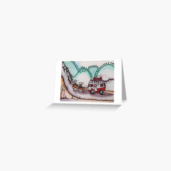 Caravan Christmas Greeting Card