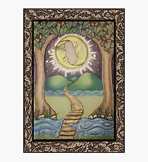 The Moon Tarot Fantasy Card Photographic Print