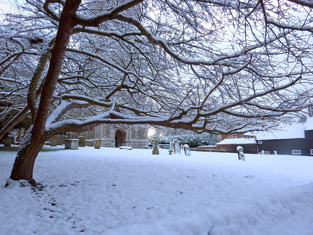 The Village Church after the snow, Foulsham Norfolk by johnny2sheds