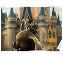 Timothy Mouse and Dumbo at Magic Kingdom Park Poster