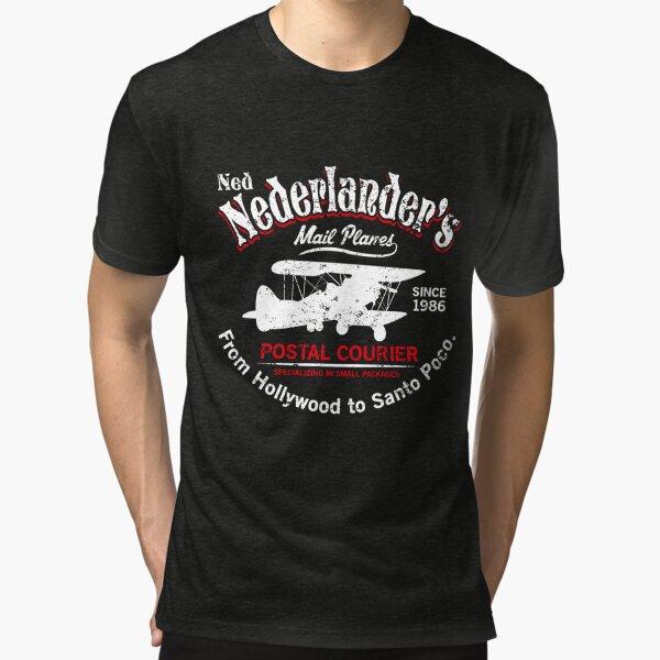 Ned Nederlander Mail Plane - Three Amigos Tri-blend T-Shirt