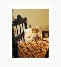 Baby Doll in Crib Art Print