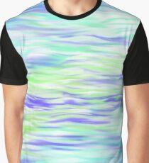Wasser Muster Blau Türkis Grün Grafik T-Shirt