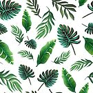 Tropical palm leaves by MagentaRose