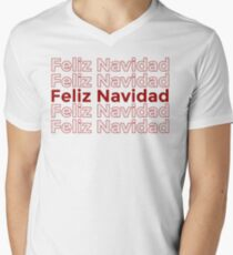 Feliz Navidad - Merry Christmas  Men's V-Neck T-Shirt