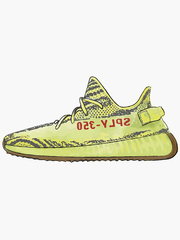 Sneakers yeezy 350 yellow by Hypefr
