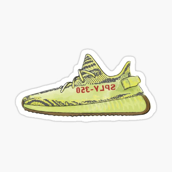 Sneakers yeezy 350 yellow Sticker