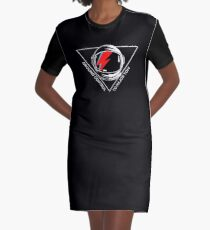 Tribute to David Bowie Graphic T-Shirt Dress