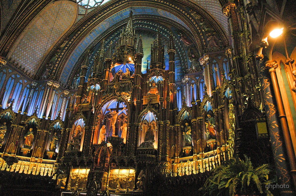 Ornate Altar - Montreal, Canada by rjhphoto