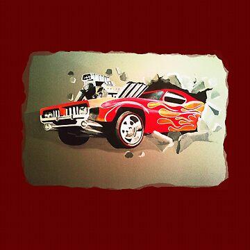 Car Crashing Through Wall by MelissaB