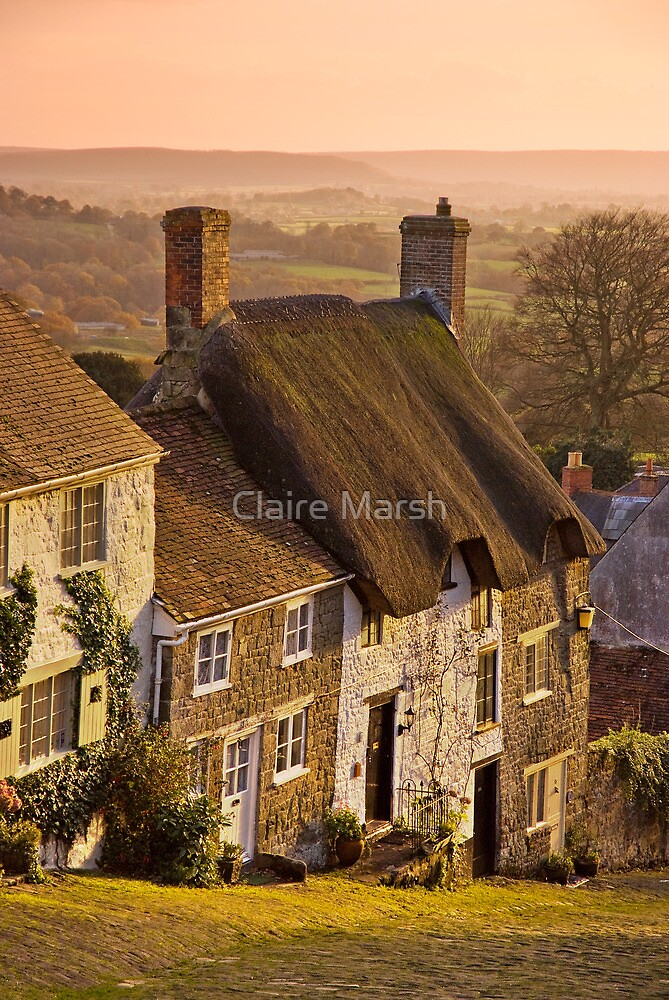 Golden Gold Hill by Claire Hutton