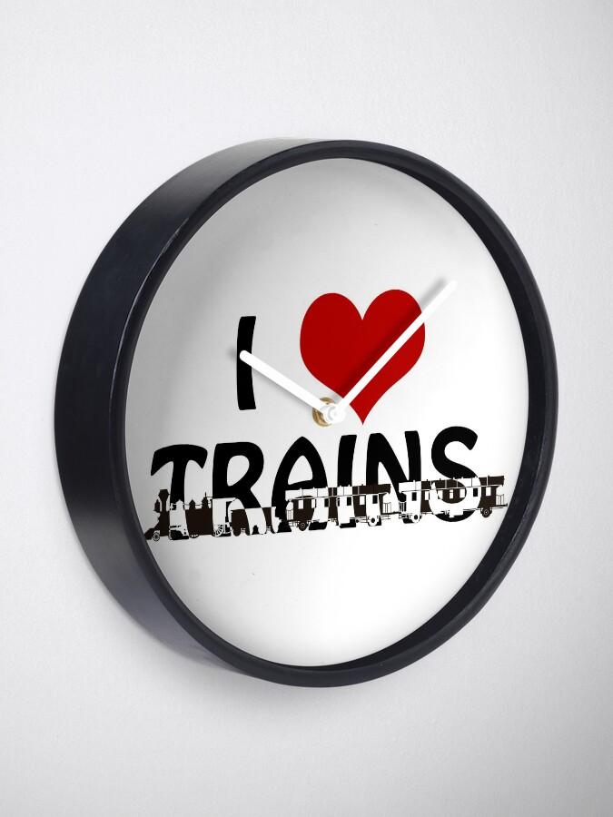 Alternate view of I love Trains Clock