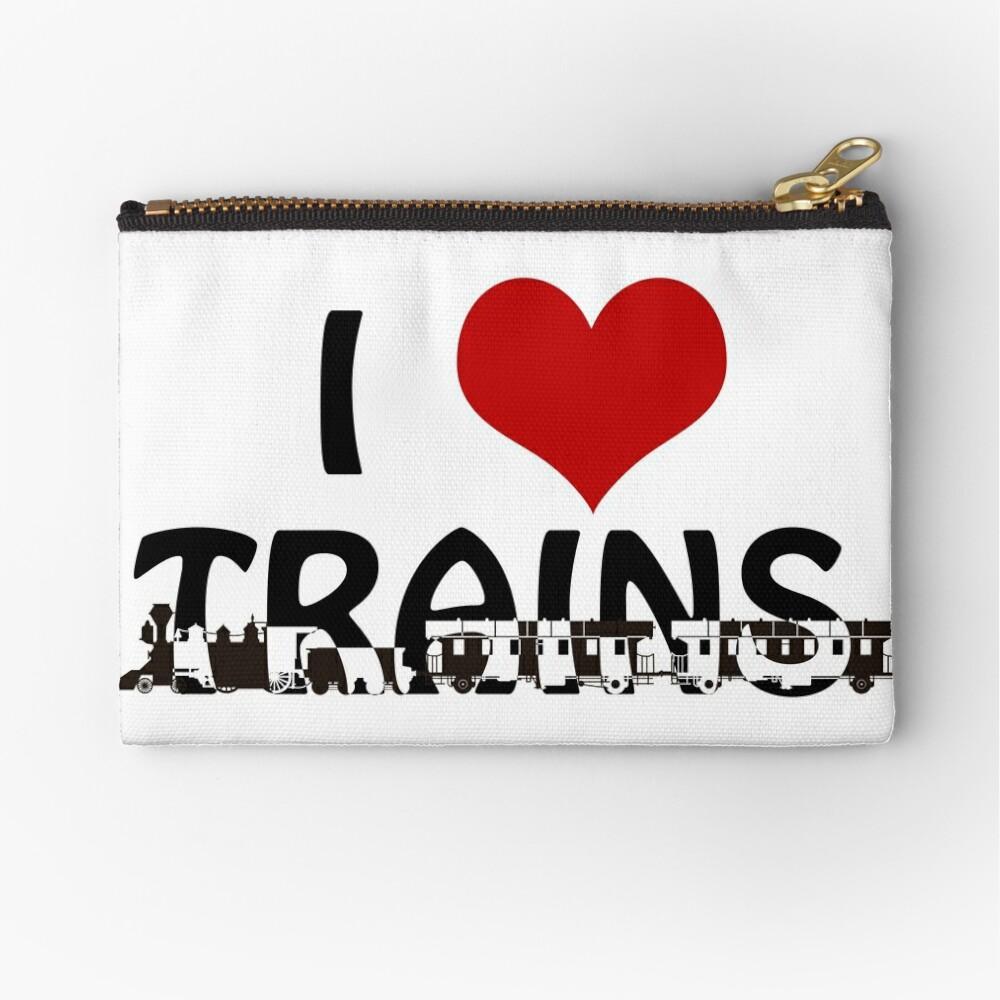 I love Trains Zipper Pouch