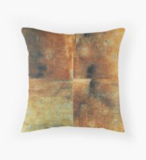 Speeches Oxide 1 - abstract painting on canvas Throw Pillow