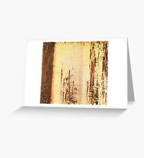 Venice Wall 4 - original acrylic abstract painting on panel Greeting Card