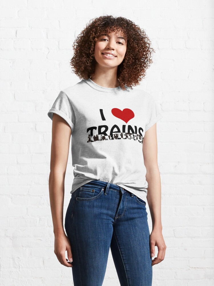 Alternate view of I love Trains Classic T-Shirt