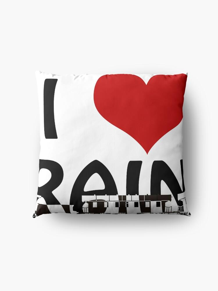 Alternate view of I love Trains Floor Pillow