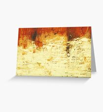 Venice Wall 2 - original acrylic abstract painting on panel Greeting Card