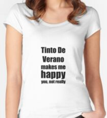 Tinto De Verano Cocktail Lover Funny Gift for Friend Alcohol Mixed Drink Women's Fitted Scoop T-Shirt