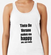 Tinto De Verano Cocktail Lover Funny Gift for Friend Alcohol Mixed Drink Women's Tank Top