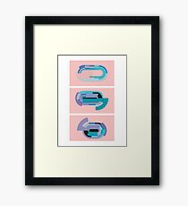 Pink abstract delight Framed Print